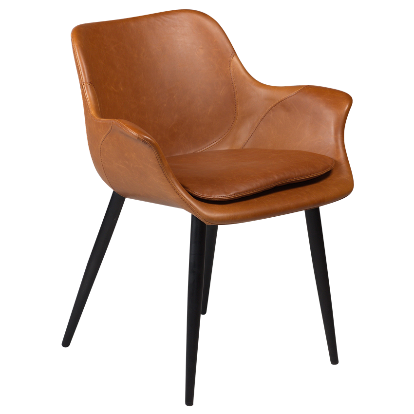 combino-armchair-vintage-light-brown-art-leather-with-black-conical-metal-legs-100690891-01-main