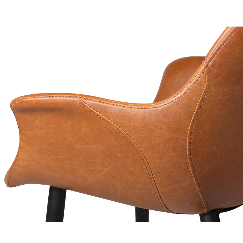 combino-armchair-vintage-light-brown-art-leather-with-black-conical-metal-legs-100690891-03-detail1