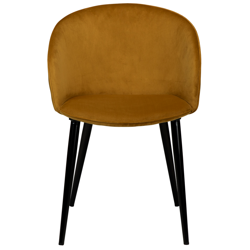 dual-chair-bronze-velvet-with-black-conical-metal-legs-100800695-02-front
