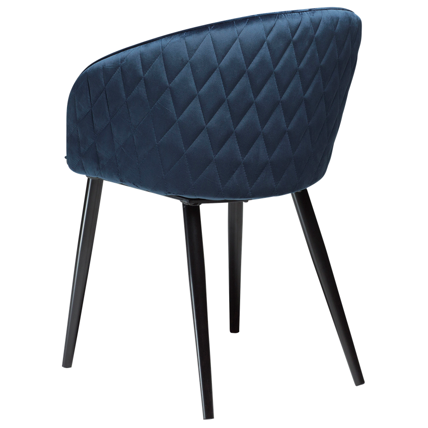 dual-chair-midnight-blue-velvet-with-black-conical-metal-legs-100800610-05-back-angle