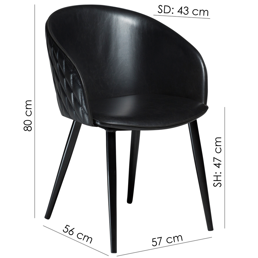 dual-chair-midnight-blue-velvet-with-black-conical-metal-legs-100800610-15-measurements