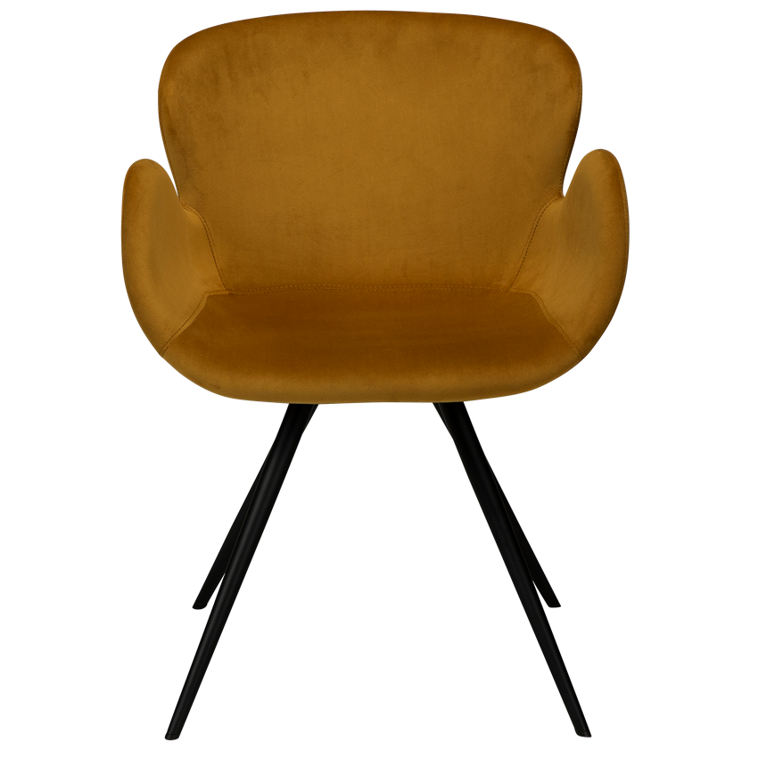gaia-chair-bronze-velvet-with-black-conical-metal-legs-100300328-02-front