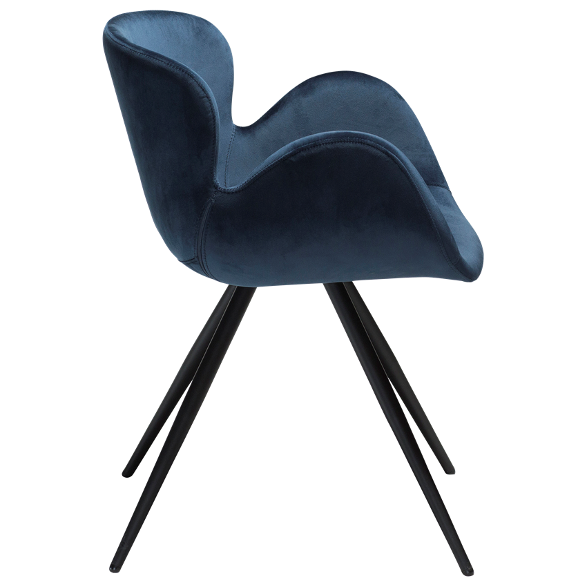 gaia-chair-midnight-blue-velvet-with-black-conical-metal-legs-100200150-03-profile